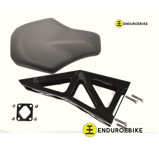 Cruise seat for enduroebike frame